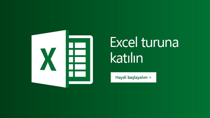 Excel'de tura başlayın şablonu
