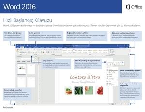 Word 2016 Hızlı Başlangıç Kılavuzu (Windows)
