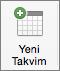 Mac için Outlook 2016 Yeni Takvim Düğmesi