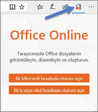 Office Online Edge uzantısını için oturum açma iletişim kutusu