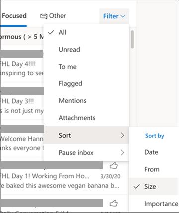 Sıralama menüsü by seçili filtresinin ekran görüntüsü