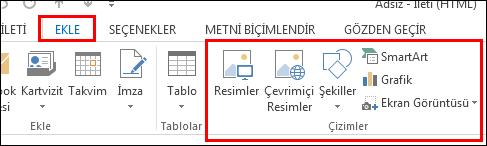 Outlook 2013 Resim Ekle