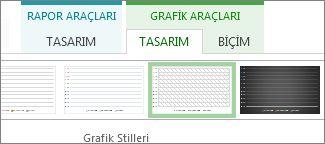 Grafik Araçları Tasarımı sekmesindeki Grafik Stilleri grubu