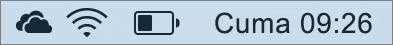 Mac sistem tepsisindeki OneDrive simgesi