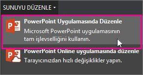 PowerPoint masaüstünde düzenleme