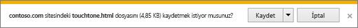 Internet Explorer yükleme istemi