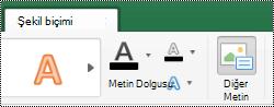 Mac için Excel 'de Şeritteki şekiller için alternatif metin düğmesi