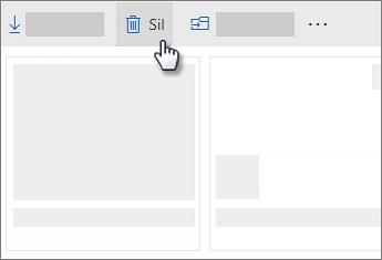 OneDrive 'da dosya silme ekran görüntüsü
