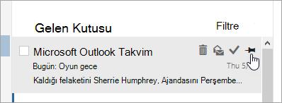 İleti listesindeki sabitleme seçeneğinin ekran görüntüsü