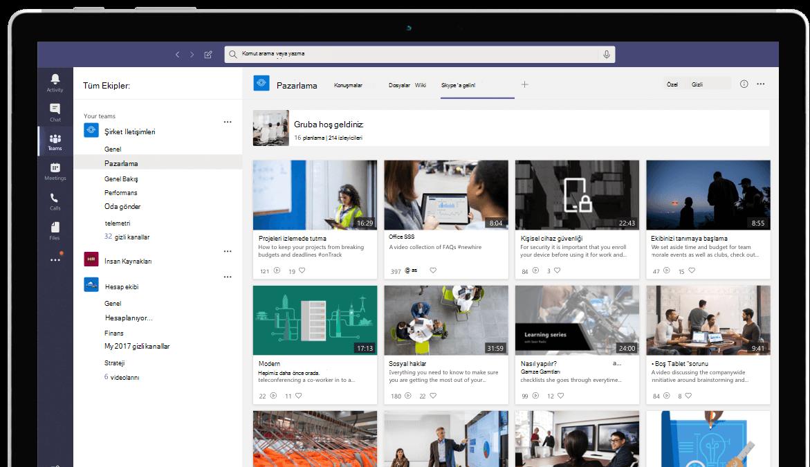 Microsoft Teams'de video akışı gerçekleştirin
