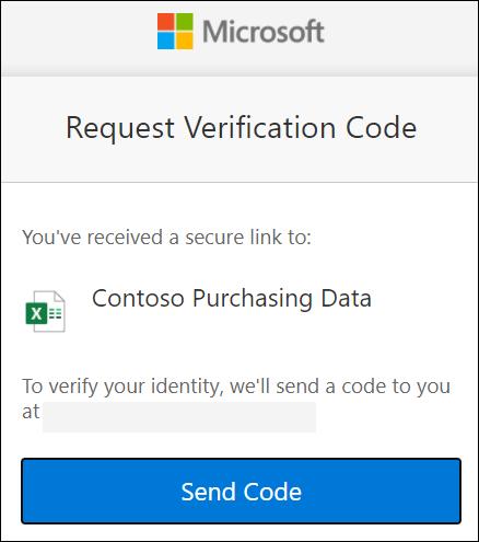 OneDrive dış paylaşım kodu talep penceresi