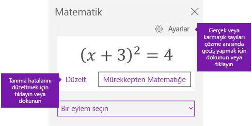 Görev bölmesinde Matematik Denklemi