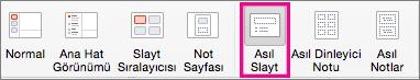 Mac için PPT Asıl Slayt Komutu