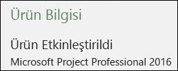 Ürün Bilgisi - Project Professional 2016