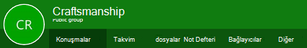 Web üzerinde Outlook'ta gruplar Şerit
