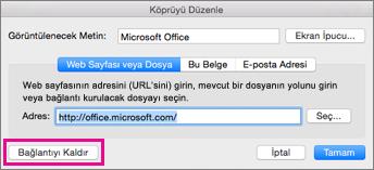 Mac için Office köprüyü kaldırma