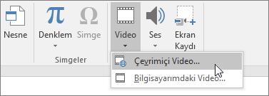 Slaytlarınıza video ekleme