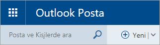 Klasik Outlook.com posta kutusunun sol üst köşesinin ekran görüntüsü