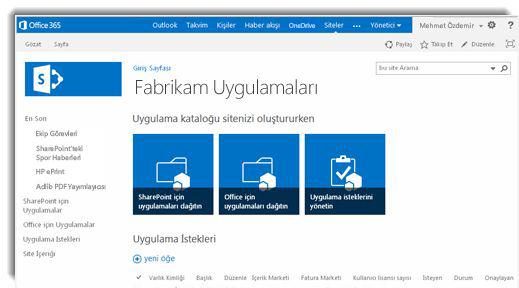 Uygulama Kataloğu sitesi giriş sayfasının ekran görüntüsü.