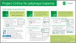 Project Online ile Çalışmayı Başlama Hızlı Başlangıç Kılavuzu