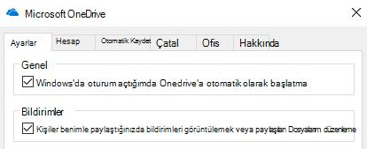 Paylaşılan OneDrive için tüm bildirimleri devre dışı bırakmak için dosyaları OneDrive uygulamanızın ayarları gidin ve kapatabilirsiniz.