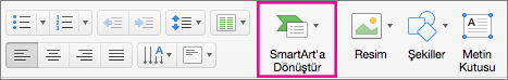 Mac için PowerPoint SmartArt'a Dönüştür