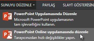 powerpoint online'da aç