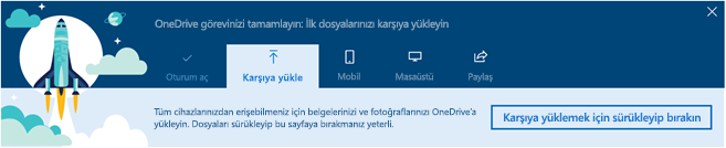 Turun OneDrive destekli iş Office 365'te OneDrive ilk kez kullandığınızda görüntülenen ekran görüntüsü