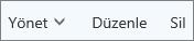 Outlook.com komut çubuğunda kişileri yönetme, düzenleme ve silme