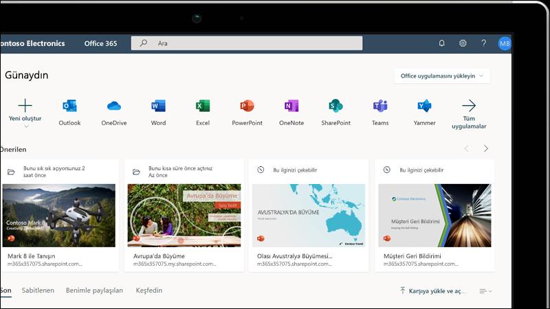 Web için Office eğitimi