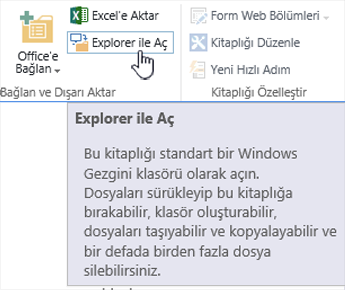 SharePoint 2016 IE11 Explorer'da açıkken