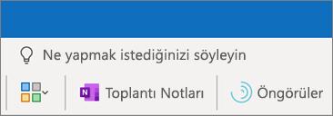 Outlook toplantısına toplantı notları ekleme