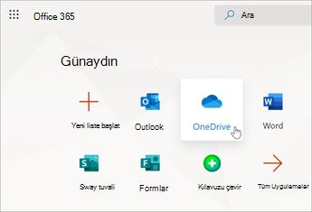 OneDrive'ı seçin.