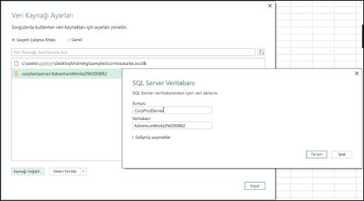 Excel Power BI Veri Kaynağı Ayarları'na yönelik geliştirmeler