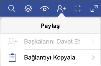 iPad için Visio Görüntüleyicisi'nde bağlantı kopyalama