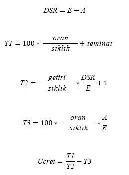 N <= 1 için DEĞER formülü