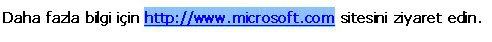 Seçili Web adresi