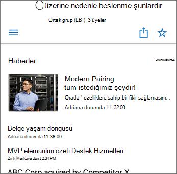 Sitedeki Ekip Haberleri Ekran Görüntüsü