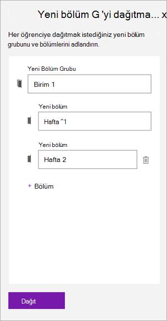 Bölüm grubu ve bölümlerin adlarını yazın.]