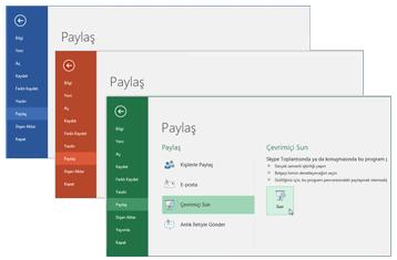 Diğer Office 365 uygulamalarıyla işbirliği yapma