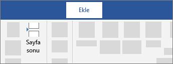 Sayfa sonu ekleme