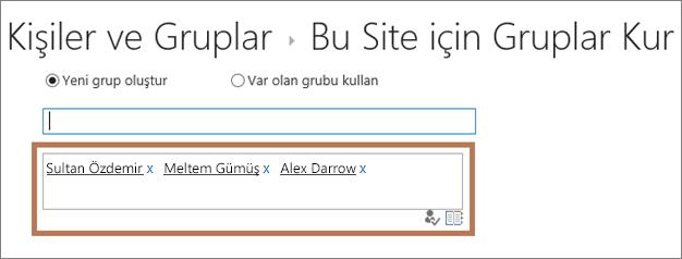 Alt siteye iç kullanıcıları ekleme