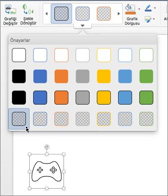 Bir simgenin grafik stilini düzenleme