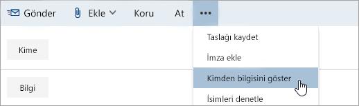 Göndericiyi Göster seçeneğinin ekran görüntüsü