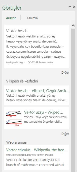 Windows için Excel 2016'daki Öngörüler bölmesi