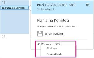 Gezinti Bölmesi'nde gösterilen veri erişim sayfası