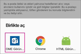 Gmail Android 2 ile OME Görüntüleyicisi