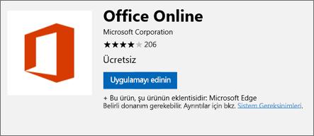 Office Online Microsoft Store uzantısı sayfasında