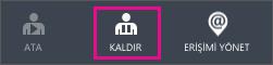 Azure AD'de Kaldır düğmesini gösterir