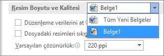 Dosya boyutunu ve kaliteyi dengelemek için Office'in dosyalarınızı nasıl sıkıştıracağını yapılandırma